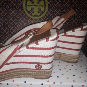 Tory Burch Wedge Heels Espadrilles